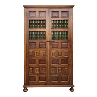 19th Century Cupboard or Cabinet, Walnut, Castillian Influence, Spain, Restored For Sale