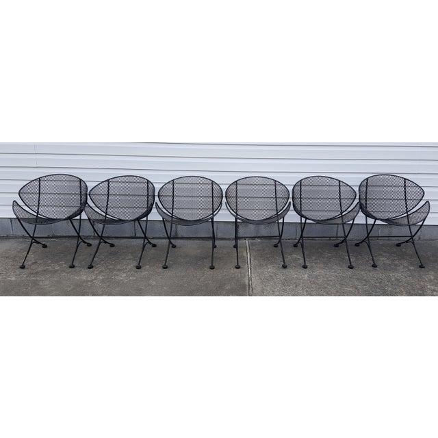 "Mid-Century Modern 1960s Vintage Tempestini for Salterini Patio Garden ""Clamshell"" ""Orange Slice"" Chair For Sale - Image 3 of 13"