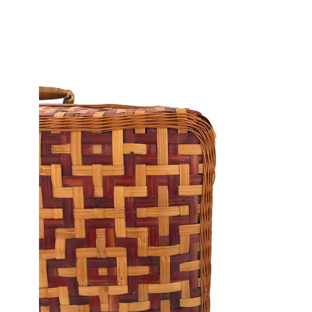 Geometric Weave Basket Trunk - Image 7 of 8