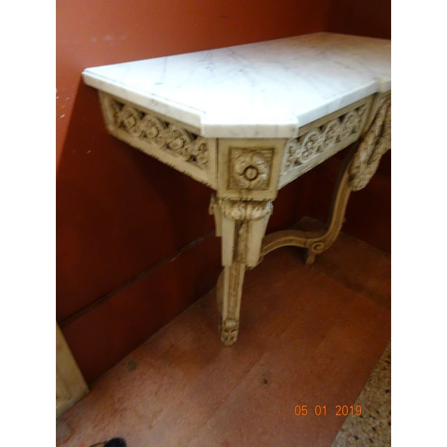 19th Century French Console With Marble Top For Sale - Image 10 of 12