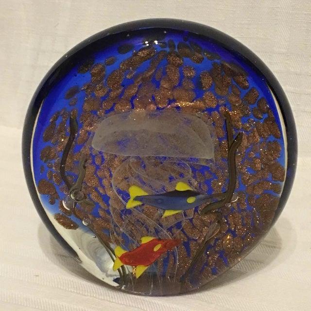 Murano glass fish jellyfish paperweight aquarium chairish for Murano glass fish