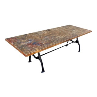 Vintage Industrial Studio Table For Sale