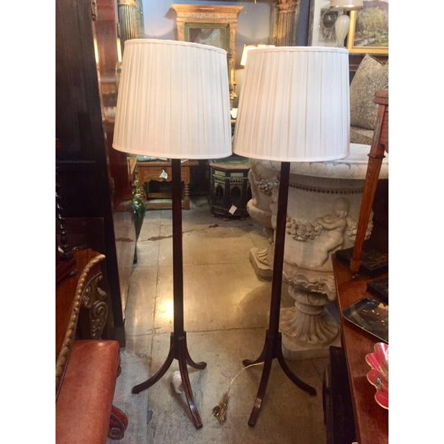 Macassar Ebony Floor Lamps - a Pair For Sale - Image 10 of 10