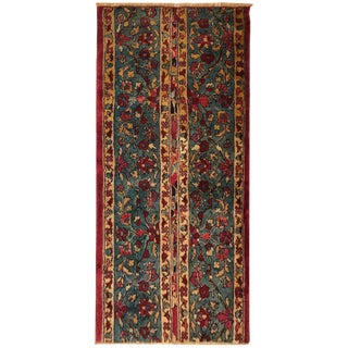 Early 20th Century Antique Indian Agra Rug - 2′ × 4′ For Sale