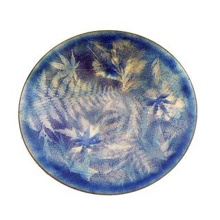 Vintage Modernist Maple Leaf Enamel Plate