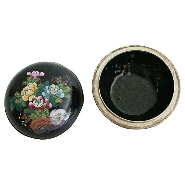 Round Cloisonné Trinket Box - Image 4 of 5