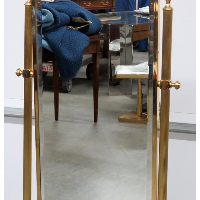 Hollywood Regency Hollywood Regency Style Cheval Mirror For Sale - Image 3 of 9