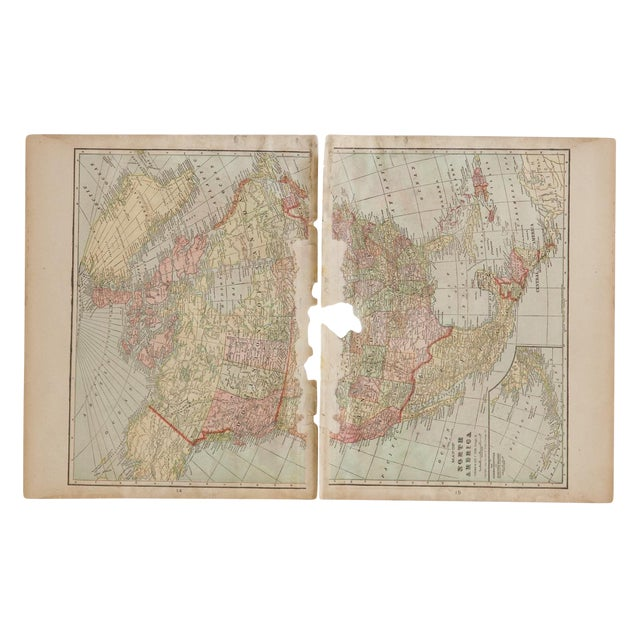 Cram's 1907 Map of North America For Sale