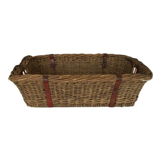 Antique French Kindling Basket For Sale