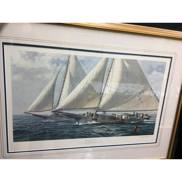 """Racing for the Oysters"" Nautical Print - Image 3 of 5"