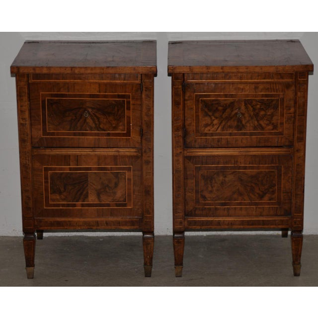 Pair of Magnificent Late 18th to Early 19th Century Walnut Side Tables W/ Cabinets For Sale - Image 9 of 9