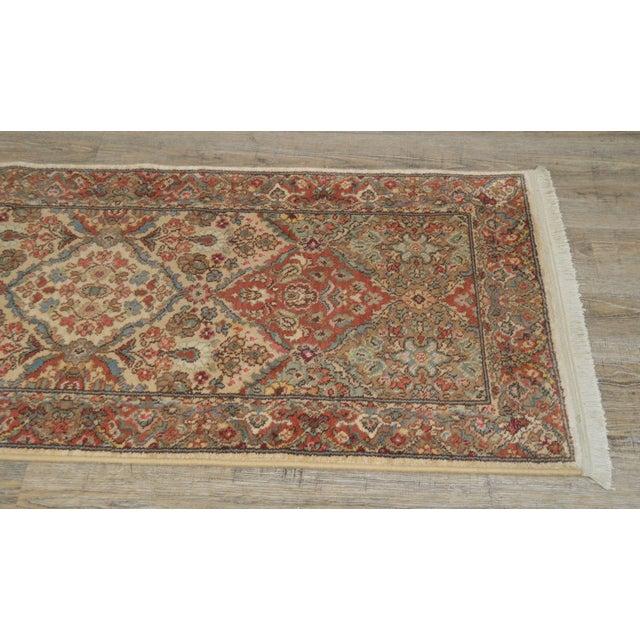 """Red Karastan Empress Kirman 2'6"""" X 8'6"""" Runner Area Rug Carpet (A) For Sale - Image 8 of 12"""