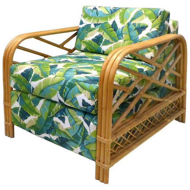 Boho Chic Tropical Modern Rattan Lounge Chair Chairish