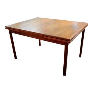 Vintage Mid-Century Modern Teak Dining Table For Sale