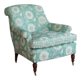 Image of Teal Club Chairs