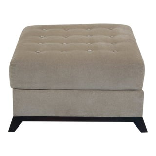 Hickory Chair Co. Large Modern Upholstered Ottoman