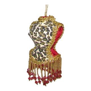 Victorian Style Velvet Dress Mannequin Ornament