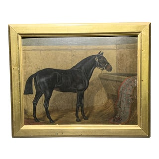 Standardbred Horse Portrait Painting Signed W.T. Richards, Framed For Sale