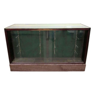 Showcase with Marble on Bottom For Sale