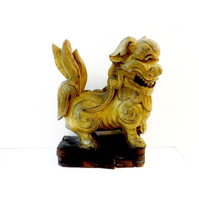 Antique Statue of Temple / Foo Dog For Sale In New York - Image 6 of 9