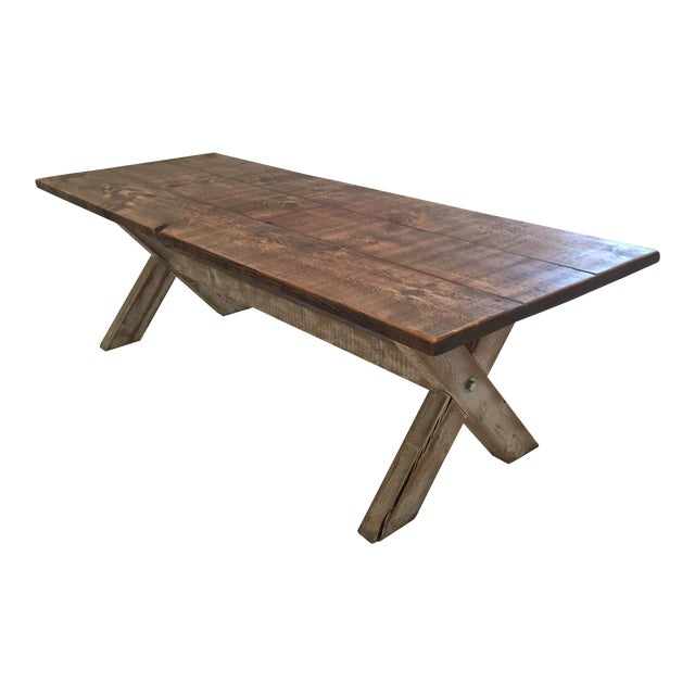 Reclaimed Pine Dining Table - Image 1 of 3