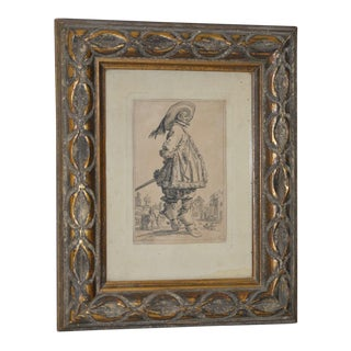 "Jacques Callot ""The Musketeer"" Engravnig From the Les Nobles Series 18th to 19th C. For Sale"