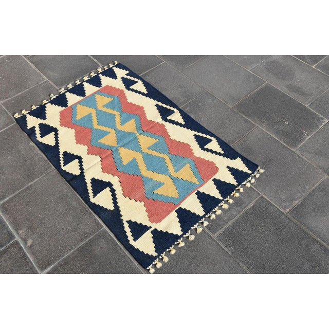 Islamic Turkish Anatolian Wool Rug - 2′3″ × 3′7″ For Sale - Image 3 of 9