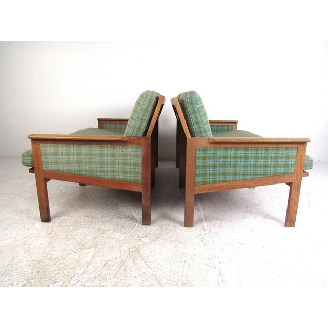 "Danish Modern Illum Wikkelsø for N. Eilersen A/S Mid-Century Modern ""Capella"" Settees - A Pair For Sale - Image 3 of 11"