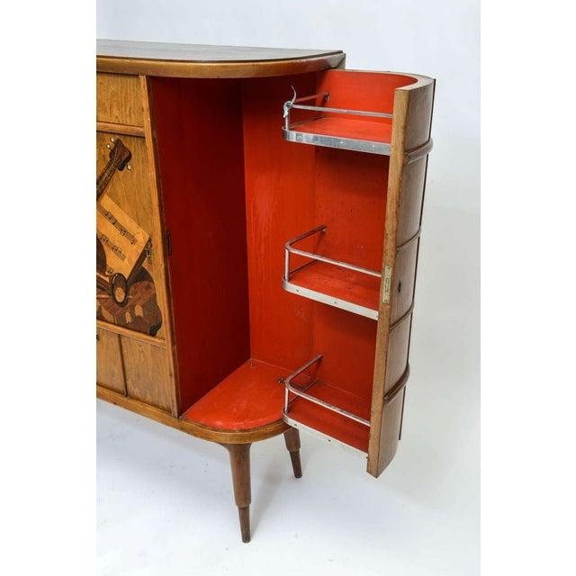 Ash Italian Modern Ash, Walnut, Olivewood, Mahogany Bar Cabinet, Luigi Scremin For Sale - Image 7 of 8