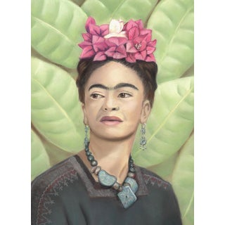 Frida Kahlo Pastel Drawing