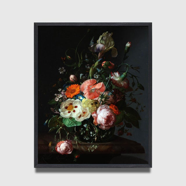 Rachel Ruysch Still Life With Flowers 1716 Unframed Giclée Print For Sale - Image 4 of 6