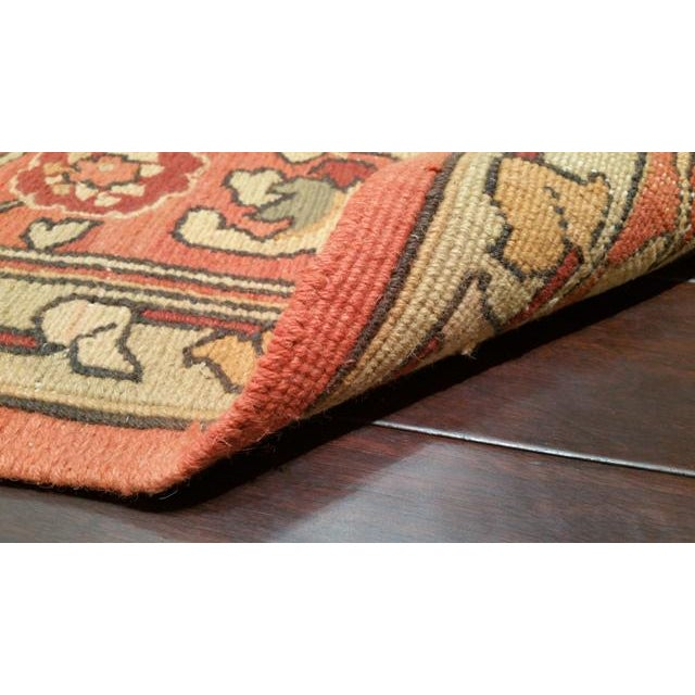 Antique Reproduction Flat Weave Soumak Hand Made Rug - 10x14 For Sale - Image 4 of 4