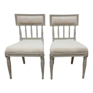 Swedish Classic Gustavian Side Chairs - a Pair For Sale