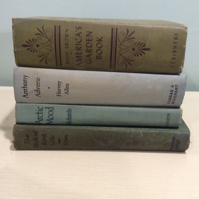 Vintage Green Book Stack - Set of 4 - Image 5 of 11