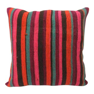 Colorful Striped Kilim Pillow For Sale