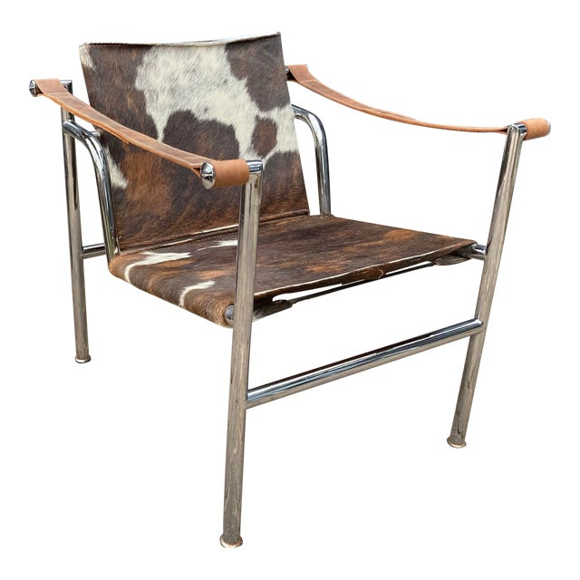 Vintage Mid Century Crome and Pony Arm Chair For Sale