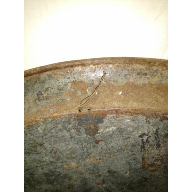Metal Antique Anglo Indian Huge Festival Wedding Tray For Sale - Image 7 of 9