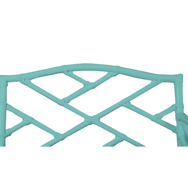Not Yet Made - Made To Order Chippendale Bench - Turquoise For Sale - Image 5 of 6