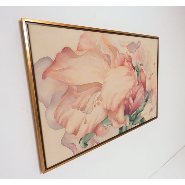 "Large Scale Floral Painting Titled ""Audible Blooms"" by Daryl D. Johnson For Sale - Image 9 of 13"