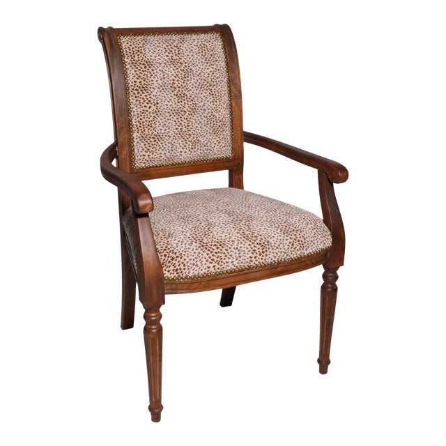 Decorator Arm Chair With Cheetah Print - Image 1 of 3