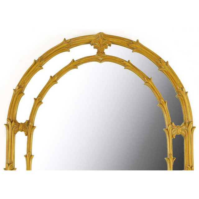 Mid-Century Modern Arched Top Mirror Of Umber Glazed Vines For Sale - Image 3 of 6