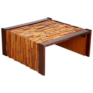 Percival Lafer Exotic Wood Coffee Table for l'Atelier De Sao Paulo, Brazil For Sale
