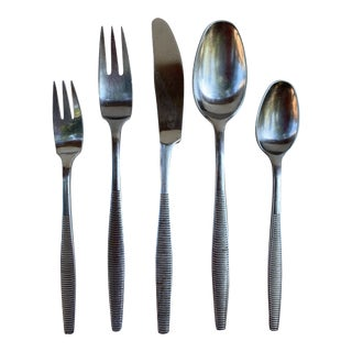 1960s Dansk Variation 6 Service for 8 Flatware Set - Set of 46 For Sale