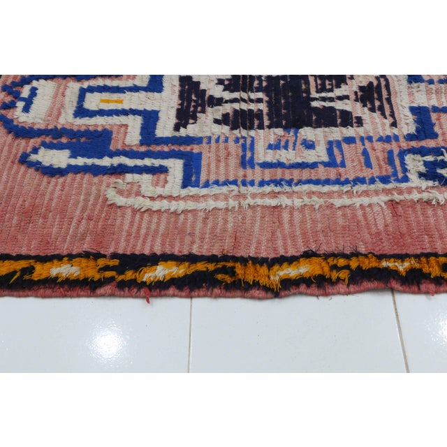Islamic 1970s Vintage Moroccan Boujad Rug - 3′4″ × 5′7″ For Sale - Image 3 of 5