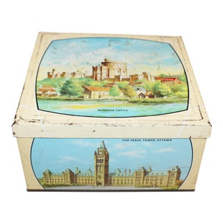 """Biscuit Tin """"The British Commonwealth"""" For Sale"""
