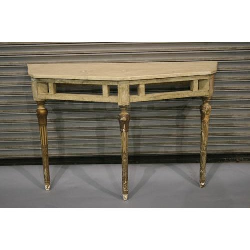 Great Italian style angled console table, painted. Circa 1920s. *Please remember: The majority of our items are either...