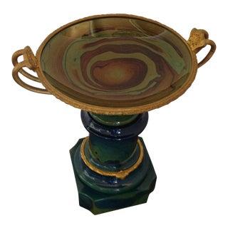 1990s Italian Art Glass and Gilt Tasse For Sale