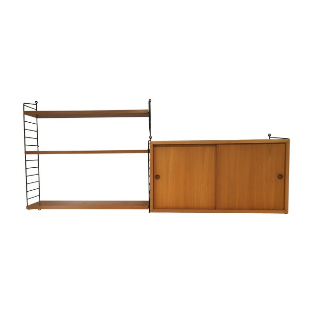 String Shelves and Cabinet by Nisse Strinning For Sale