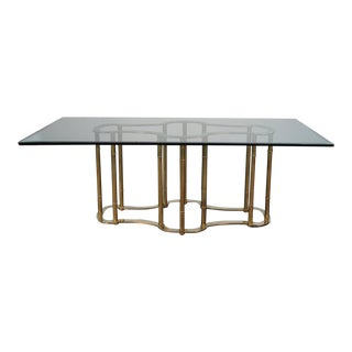 Mastercraft Brass Racetrack Dining Table For Sale