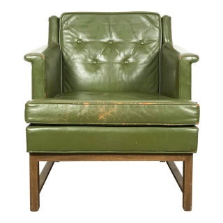 Vintage Edward Wormley for Dunbar Petite Lounge Chair in Leather, Circa 1950's For Sale